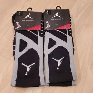 New Mens Lot of 2 Basketball Jordan Socks